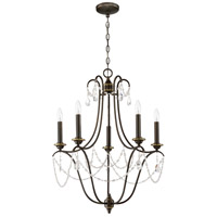 Craftmade 41125-LB Lilith 5 Light 24 inch Legacy Brass Chandelier Ceiling Light, Jeremiah