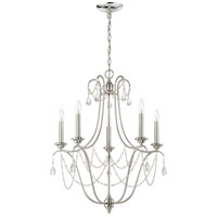 Lilith 5 Light 24 inch Polished Nickel Chandelier Ceiling Light, Jeremiah