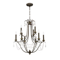 Craftmade 41129-LB Lilith 9 Light 29 inch Legacy Brass Chandelier Ceiling Light, Jeremiah