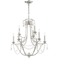 Craftmade 41129-PLN Lilith 9 Light 29 inch Polished Nickel Chandelier Ceiling Light, Jeremiah