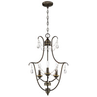 Lilith 3 Light 18 inch Legacy Brass Foyer Light Ceiling Light, Jeremiah