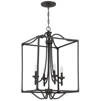 Jeremiah by Craftmade Sophia 4 Light Foyer in Aged Bronze Brushed 41435-ABZ