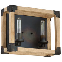 Wood Cubic Bathroom Vanity Lights