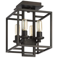 Craftmade 41554-ABZ Cubic 4 Light 11 inch Aged Bronze Brushed Semi-Flushmount Ceiling Light