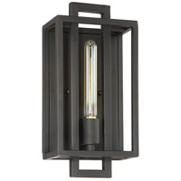 Cubic 1 Light 7 inch Aged Bronze Brushed Wall Sconce Wall Light
