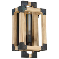 Wood and Steel Wall Sconces
