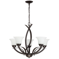 Craftmade 41625-FBZ Sierra 5 Light 27 inch French Bronze Chandelier Ceiling Light in Etched
