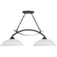 Sierra 2 Light 36 inch French Bronze Island Light Ceiling Light in Etched