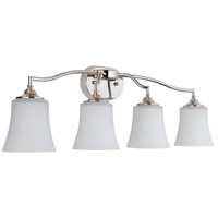 Craftmade 41704-PLN Helena 4 Light 30 inch Polished Nickel Vanity Light Wall Light Jeremiah