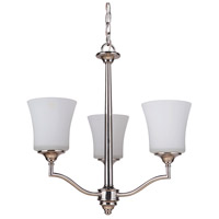 Craftmade 41723-PLN Helena 3 Light 20 inch Polished Nickel Chandelier Ceiling Light, Jeremiah