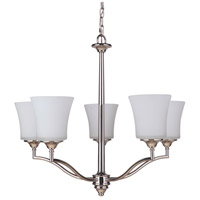 Craftmade 41725-PLN Helena 5 Light 26 inch Polished Nickel Chandelier Ceiling Light, Jeremiah