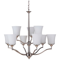 Craftmade 41729-PLN Helena 9 Light 31 inch Polished Nickel Chandelier Ceiling Light, Jeremiah