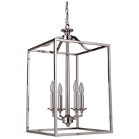 Craftmade 41734-PLN Helena 4 Light 14 inch Polished Nickel Foyer Light Ceiling Light, Jeremiah