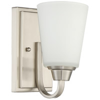 Grace 1 Light 5 inch Brushed Polished Nickel Vanity Light Wall Light, Jeremiah