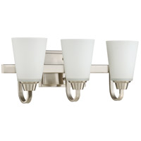 Grace 3 Light 21 inch Brushed Polished Nickel Vanity Light Wall Light, Jeremiah