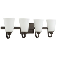 Craftmade 41904-ESP Grace 4 Light 28 inch Espresso Vanity Light Wall Light, Jeremiah