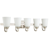 Grace 5 Light 37 inch Brushed Polished Nickel Vanity Light Wall Light, Jeremiah