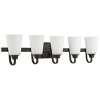 Grace 5 Light 37 inch Espresso Vanity Light Wall Light, Jeremiah
