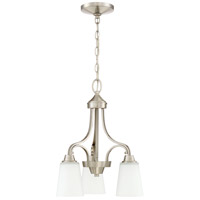 Craftmade 41913-BNK Grace 3 Light 17 inch Brushed Polished Nickel Down Chandelier Ceiling Light Jeremiah
