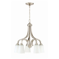 Craftmade 41915-BNK Grace 5 Light 24 inch Brushed Polished Nickel Down Chandelier Ceiling Light Jeremiah