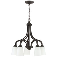 Craftmade 41915-ESP Grace 5 Light 24 inch Espresso Down Chandelier Ceiling Light, Jeremiah