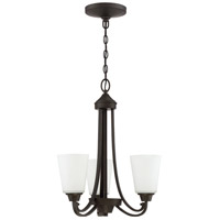 Craftmade 41923-ESP Grace 3 Light 18 inch Espresso Chandelier Ceiling Light, Jeremiah