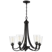 Craftmade 41925-ESP-CS Grace 5 Light 26 inch Espresso Chandelier Ceiling Light in Clear Seeded Neighborhood Collection