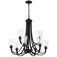 Craftmade 41929-ESP-CS Grace 9 Light 32 inch Espresso Chandelier Ceiling Light in Clear Seeded Neighborhood Collection