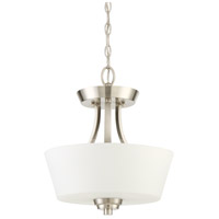 Craftmade 41952-BNK Grace 2 Light 13 inch Brushed Polished Nickel Semi-Flushmount Ceiling Light, Convertible