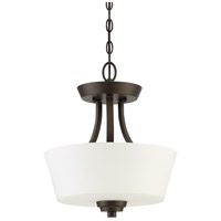 Craftmade 41952-ESP Grace 2 Light 13 inch Espresso Semi-Flushmount Ceiling Light, Convertible