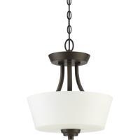 Craftmade 41952-ESP Grace 2 Light 13 inch Espresso Semi-Flushmount Ceiling Light Convertible