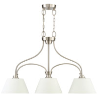 Craftmade 41973-BNK Grace 3 Light 34 inch Brushed Polished Nickel Island Light Ceiling Light, Jeremiah