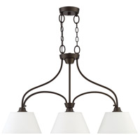 Craftmade 41973-ESP Grace 3 Light 34 inch Espresso Island Light Ceiling Light, Jeremiah