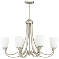 Grace 6 Light 32 inch Brushed Polished Nickel Linear Chandelier Ceiling Light, Jeremiah