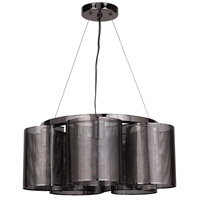 Craftmade 42025-BCH Sircle 5 Light 19 inch Black Chrome Chandelier Ceiling Light Jeremiah