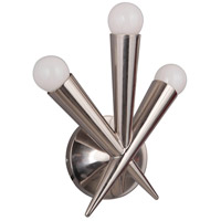 Nova 3 Light 10 inch Polished Nickel Wall Sconce Wall Light
