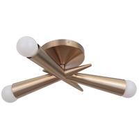Nova 3 Light 16 inch Satin Rose Gold Semi-Flushmount Ceiling Light