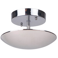 Echo LED 8 inch Polished Nickel Semi Flush Mount Ceiling Light