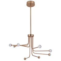 Solis LED 33 inch Satin Brass Chandelier Ceiling Light