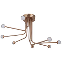 Solis LED 33 inch Satin Brass Flushmount Ceiling Light