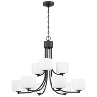 Aged Bronze Brushed Steel Clarendon Chandeliers