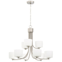 Craftmade 43529-BNK Clarendon 9 Light 32 inch Brushed Polished Nickel Chandelier Ceiling Light