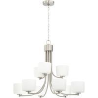 Craftmade 43529-BNK Clarendon 9 Light 32 inch Brushed Polished Nickel Chandelier Ceiling Light
