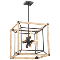 Craftmade 43738-TBDO Tesseract 8 Light 21 inch Textured Black/Distressed Oak Chandelier Ceiling Light alternative photo thumbnail