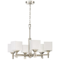 Craftmade 43926-BNK Urbane 6 Light 27 inch Brushed Polished Nickel Chandelier Ceiling Light