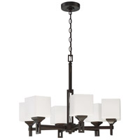 Craftmade 43926-OBG Urbane 6 Light 27 inch Oiled Bronze Gilded Chandelier Ceiling Light