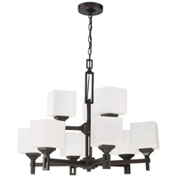 Craftmade 43929-OBG Urbane 9 Light 28 inch Oiled Bronze Gilded Chandelier Ceiling Light