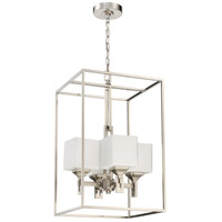 Brushed Polished Nickel Glass Foyer Pendants