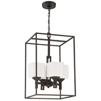 Oiled Bronze Glass Foyer Pendants