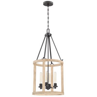 Craftmade 44034-CIDO Astoria 4 Light 18 inch Cast Iron with Distressed Oak Foyer Light Ceiling Light